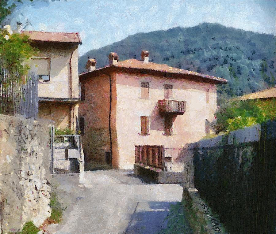 The Back Street Towards Home Painting