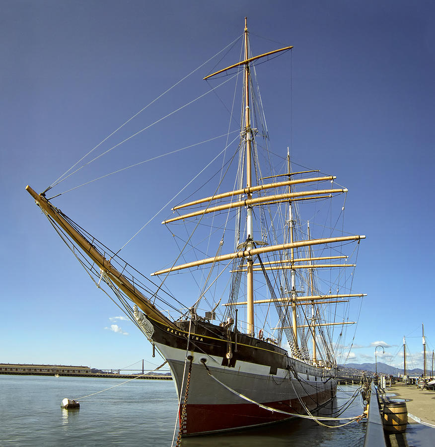 The Balclutha Historic 3 Masted Schooner - San Francisco Photograph  - The Balclutha Historic 3 Masted Schooner - San Francisco Fine Art Print