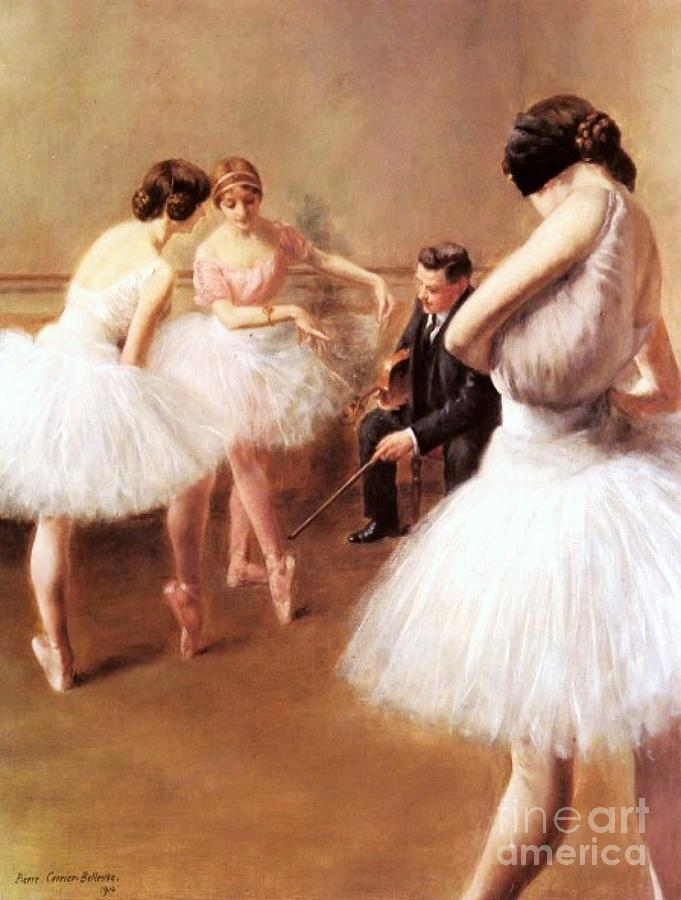 The Ballet Lessons Painting  - The Ballet Lessons Fine Art Print