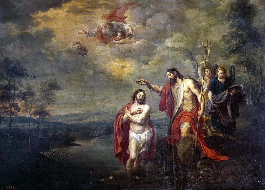 Willem Van Herp The Younger Painting - The Baptism Of Christ by Willem ...