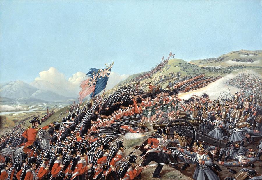 Busbys Painting - The Battle Of Alma On 20th September by Edmund Walker