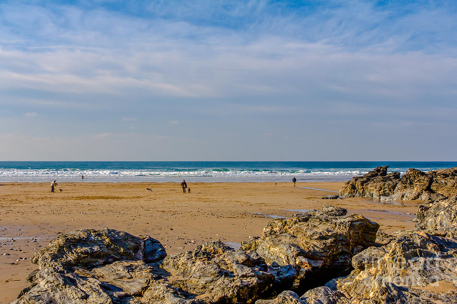 The Beach At Porthtowan Cornwall Photograph  - The Beach At Porthtowan Cornwall Fine Art Print