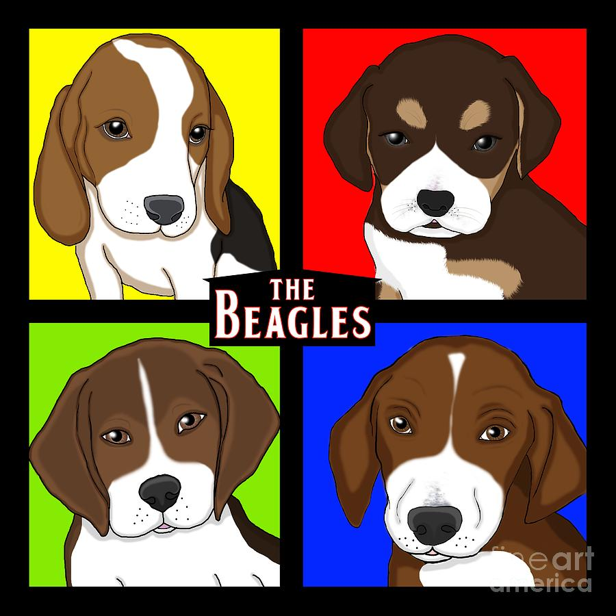 The Beagles Digital Art  - The Beagles Fine Art Print