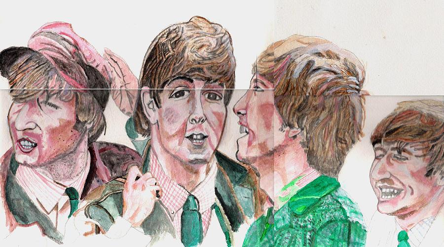 The Beatles Painting - The Beatles 3 by David Garren