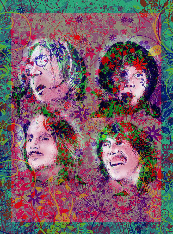Beatles Painting - The Beatles 8 by Bekim Art
