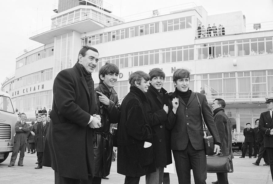 The Beatles Photograph - The Beatles Arrive In Ireland 1963 by Irish ...