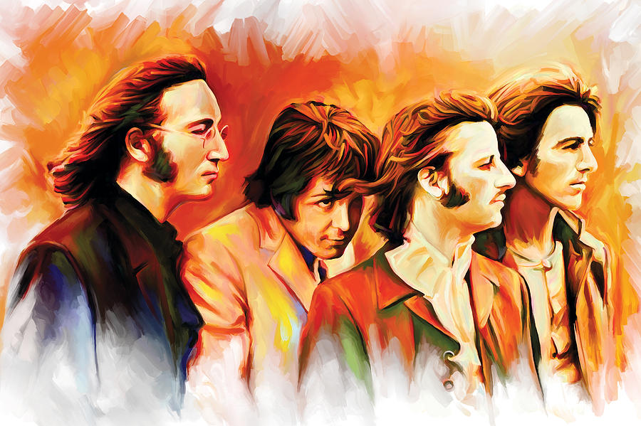 The Beatles Paintings Painting - The Beatles Artwork by Sheraz A