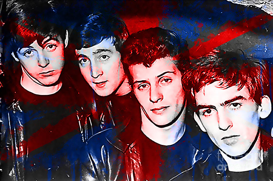 The Beatles Before Ringo Pete Best Painting Mixed Media