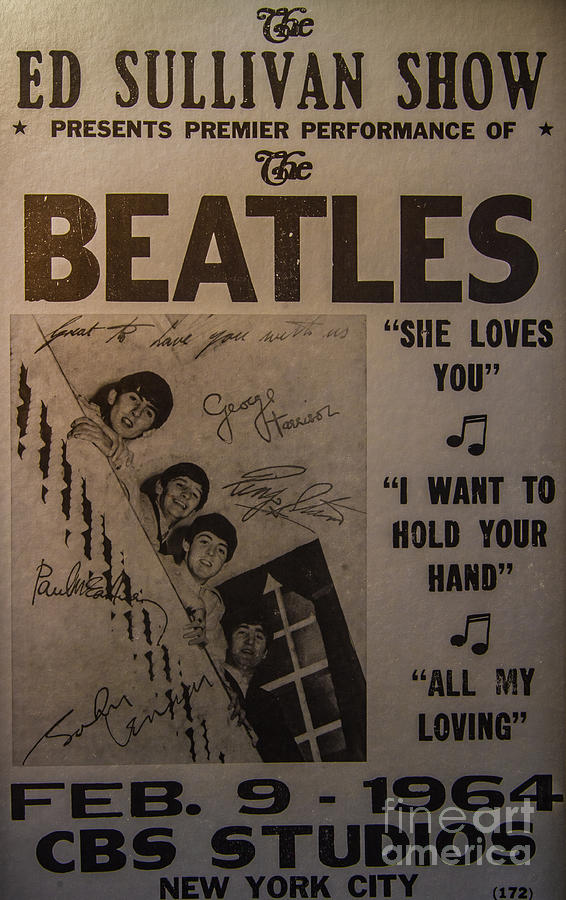 The Beatles Ed Sullivan Show Poster Photograph