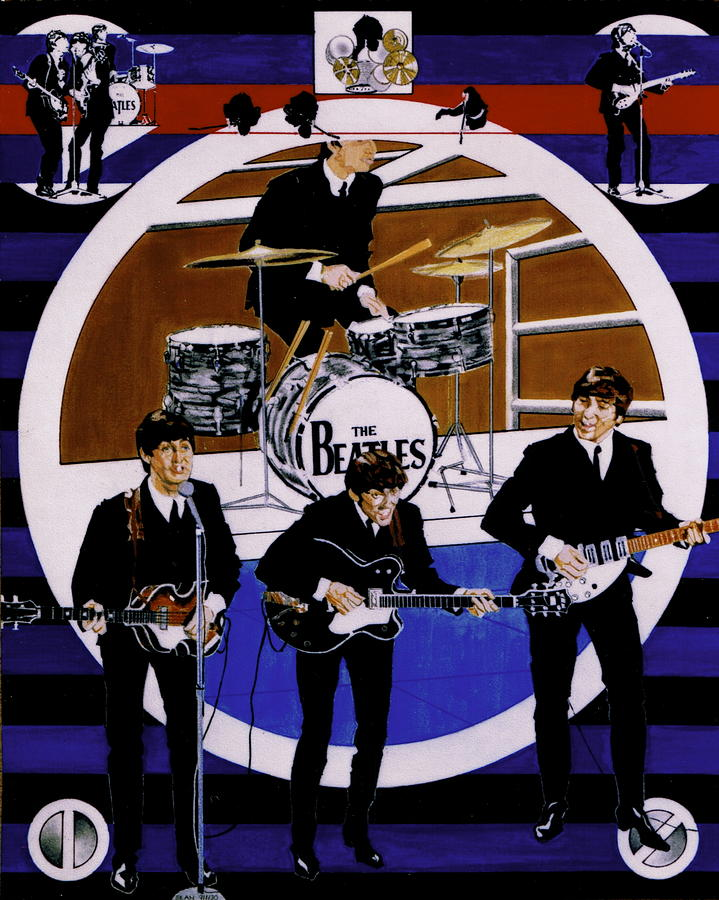 The Beatles - Live On The Ed Sullivan Show Drawing