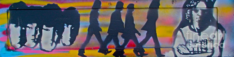 Graffiti Painting - The Beatles Long Wood by Tony B Conscious