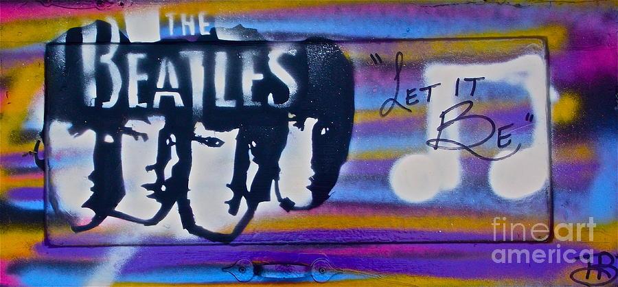 The Beatles Purple Painting