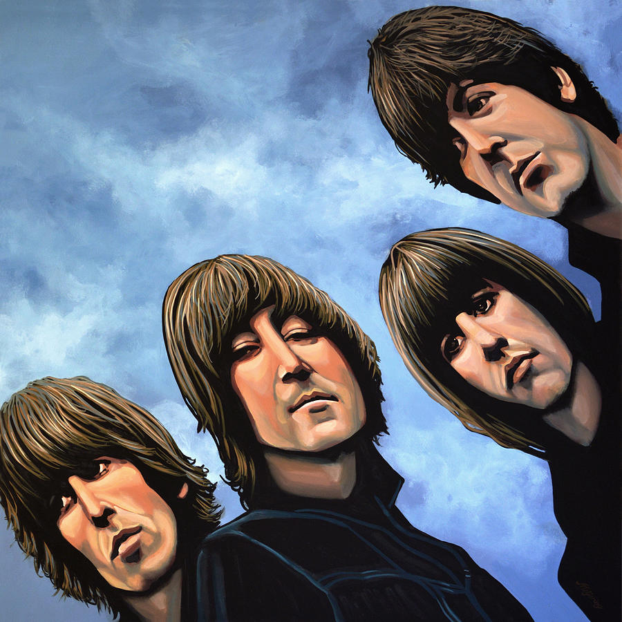 The Beatles Painting - The Beatles Rubber Soul by Paul Meijering