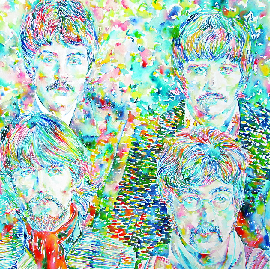 The Beatles - Watercolor Portrait.1 Painting