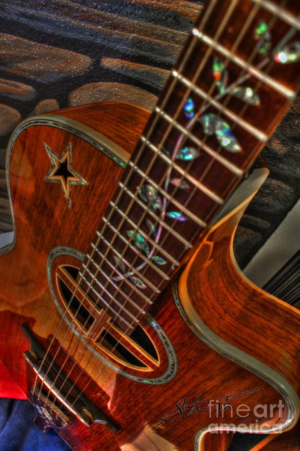 The Beauty Of A Six String Digital Guitar Art By Steven Langston Photograph  - The Beauty Of A Six String Digital Guitar Art By Steven Langston Fine Art Print