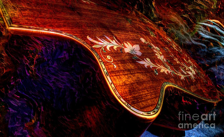 The Beauty Of Inlay Digital Guitar Art By Steven Langston  Photograph  - The Beauty Of Inlay Digital Guitar Art By Steven Langston  Fine Art Print