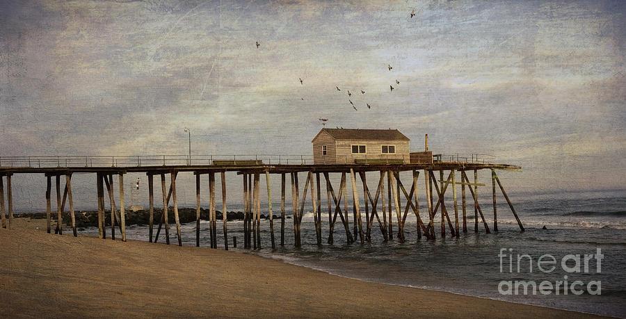 The Belmar Fishing Club Pier Photograph By Debra Fedchin