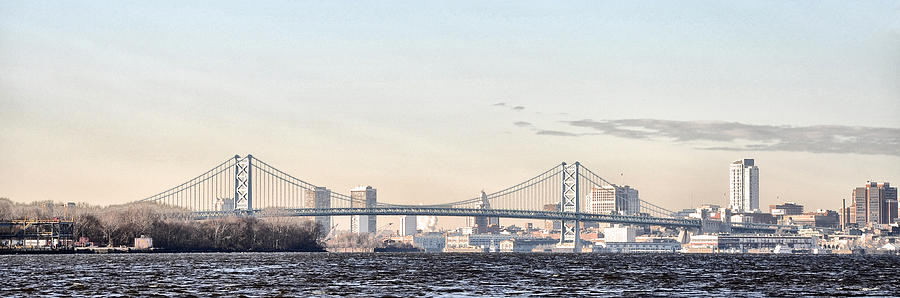 The Ben Franklin Bridge From Penn Treaty Park Photograph  - The Ben Franklin Bridge From Penn Treaty Park Fine Art Print