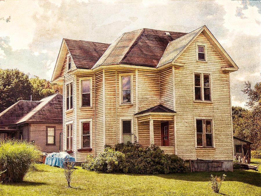 the big farm house photograph by vivian gordon big rural country farmhouse wisconsin dairy farm royalty