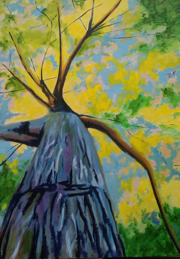 Oil Painting - The Big Oak by Piotr Wolodkowicz