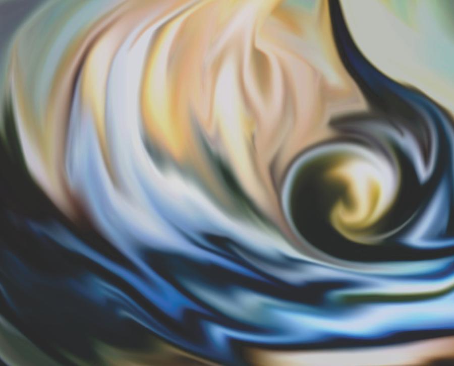 California  Wave Painting - The Big Wave by Jessie J De La Portillo