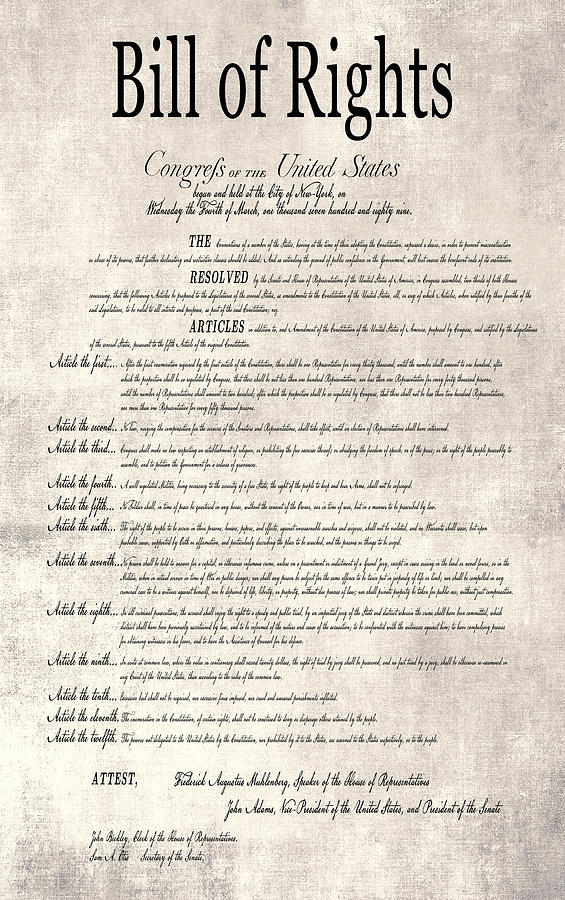 The Bill Of Rights Parchment Digital Art By Daniel Hagerman