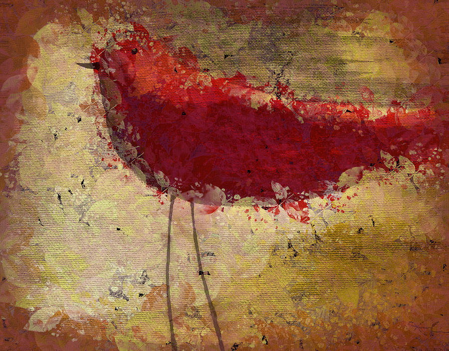 Bird Painting - The Bird - S65b by Variance Collections