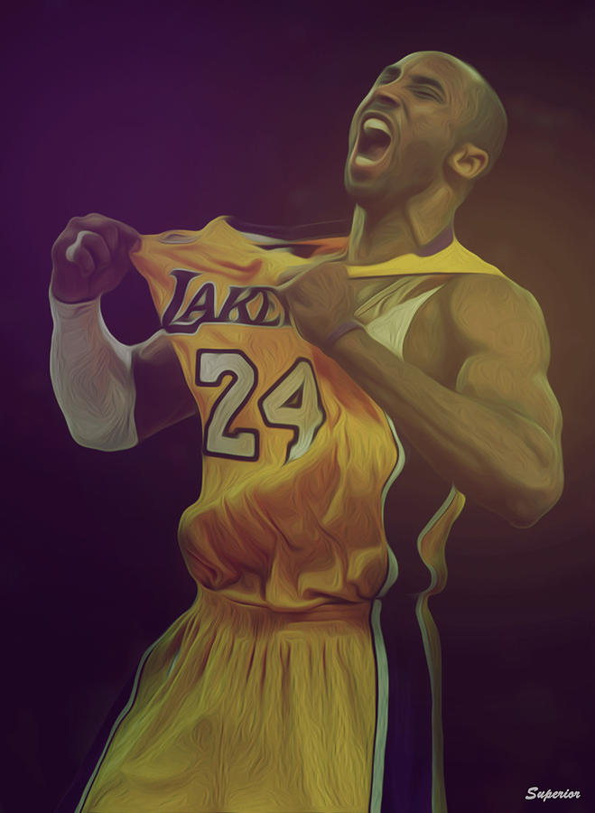 Kobe Digital Art - The Black Mamba by Superior Designs