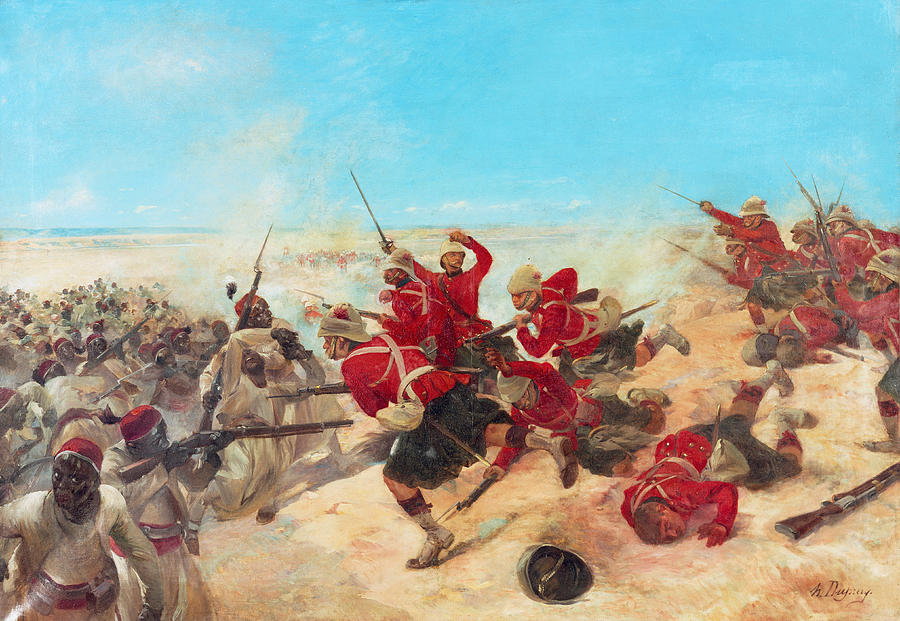 Egyptian Mutiny Painting - The Black Watch At The Battle by Henri-Louis Dupray