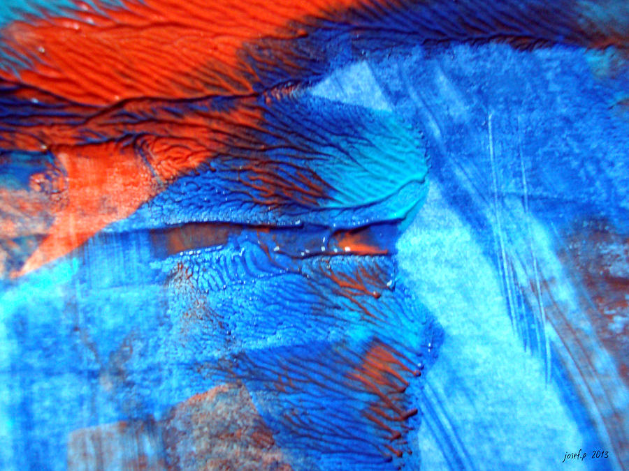Affair Painting - The Blue And Red Affair Acryl Knights by Sir Josef Social Critic - ART