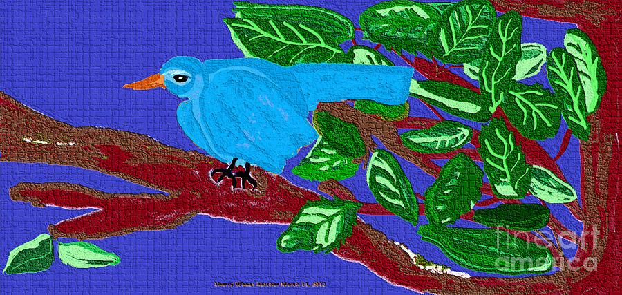 The Blue Bird Painting