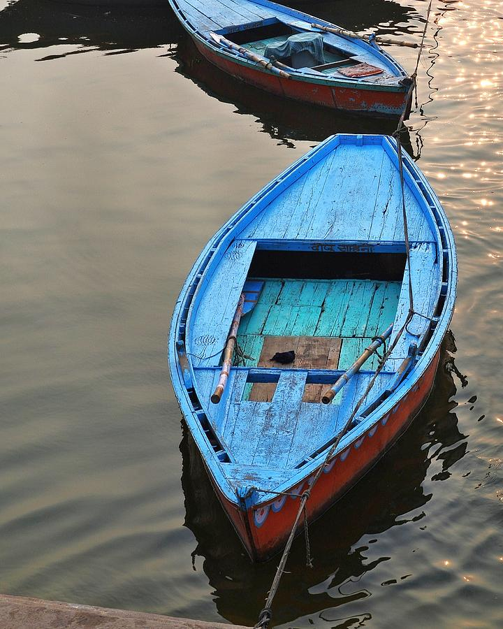 Blue Boat Photograph - The Blue Boat by Kim Bemis