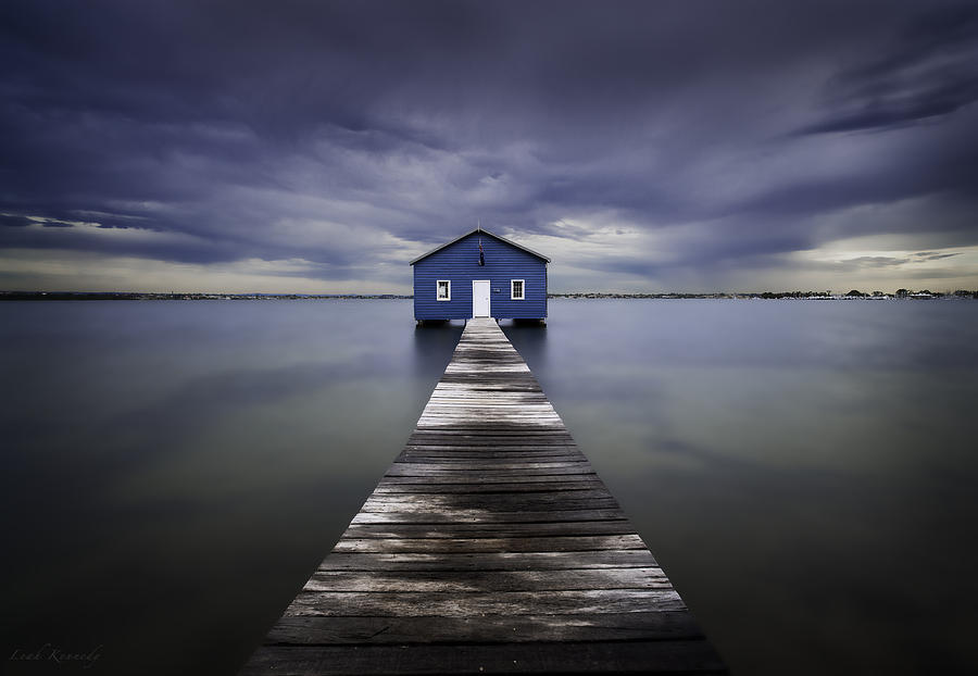 The Blue Boatshed Photograph  - The Blue Boatshed Fine Art Print