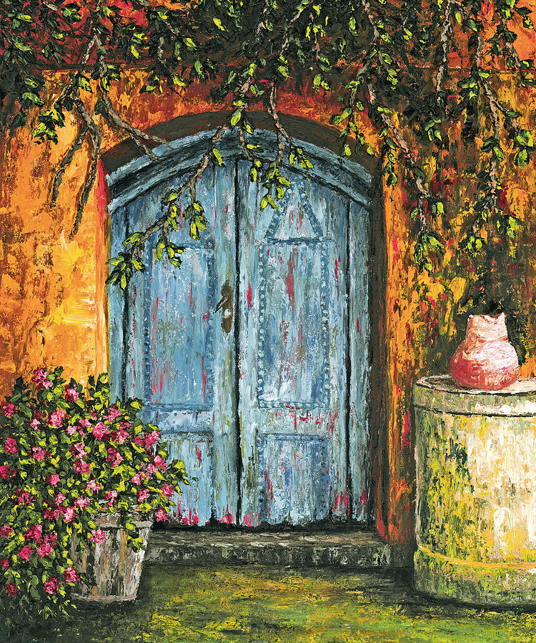 The Blue Door Painting