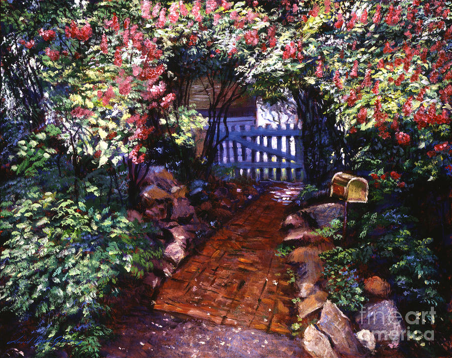 The Blue Garden Gate Painting