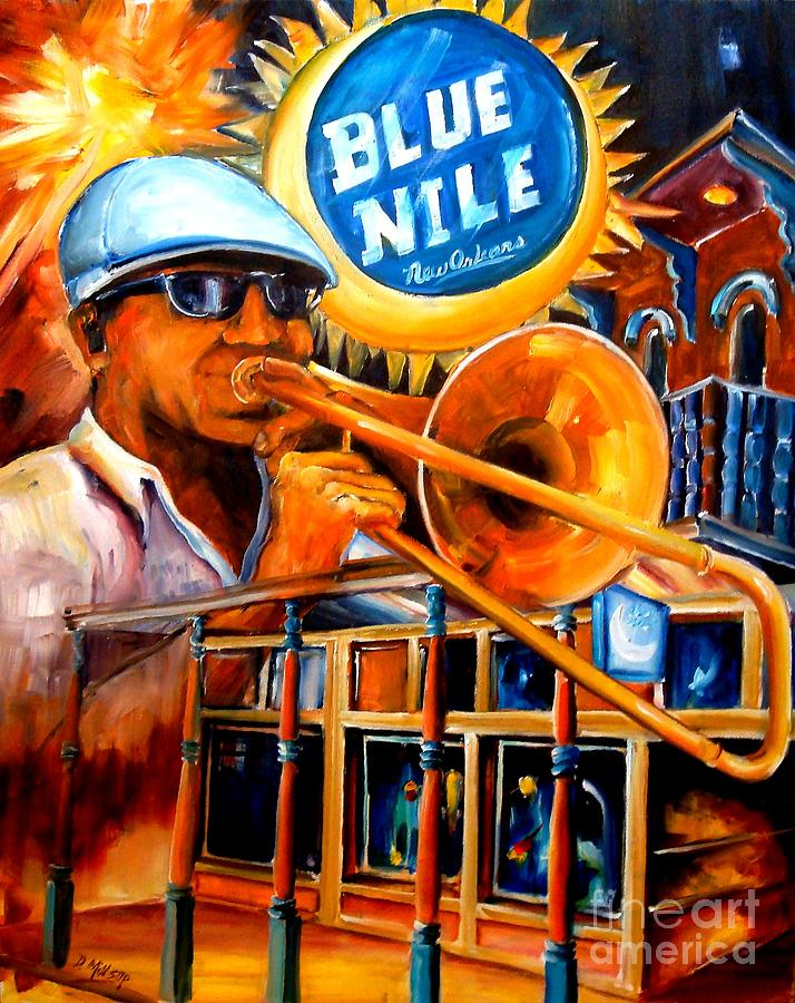 The Blue Nile Jazz Club Painting  - The Blue Nile Jazz Club Fine Art Print