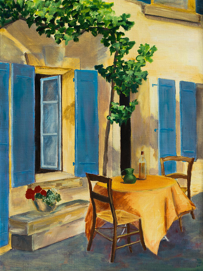 The Blue Shutters Painting  - The Blue Shutters Fine Art Print