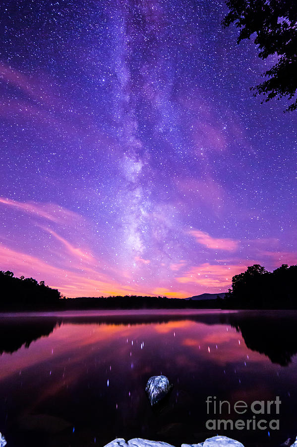 The Bold And Beautiful Milky Way Shot Straight Up From The Famous Price Lake Off The Blue Ridge Parkway In Nc. I Shot This After The Firework Show On July 4th Photograph - The Bold And Beautiful Milky Way by Robert Loe