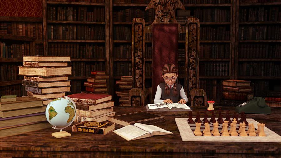 The Bookworm Digital Art