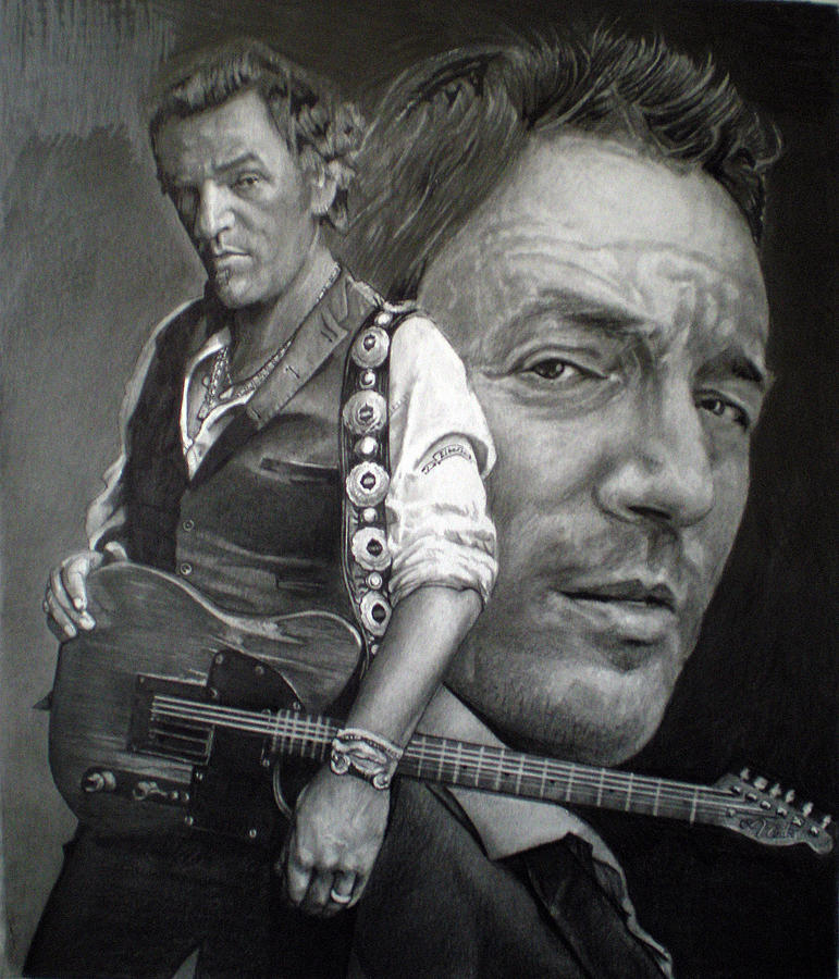 Bruce Drawing - The Boss by Raoul Alburg