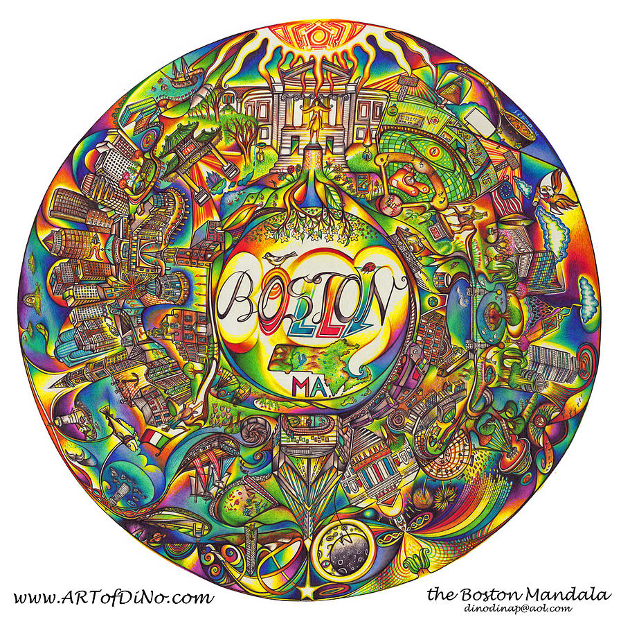 the Boston Mandala Drawing