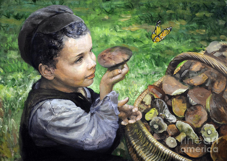 The Boy In The Woods Painting  - The Boy In The Woods Fine Art Print