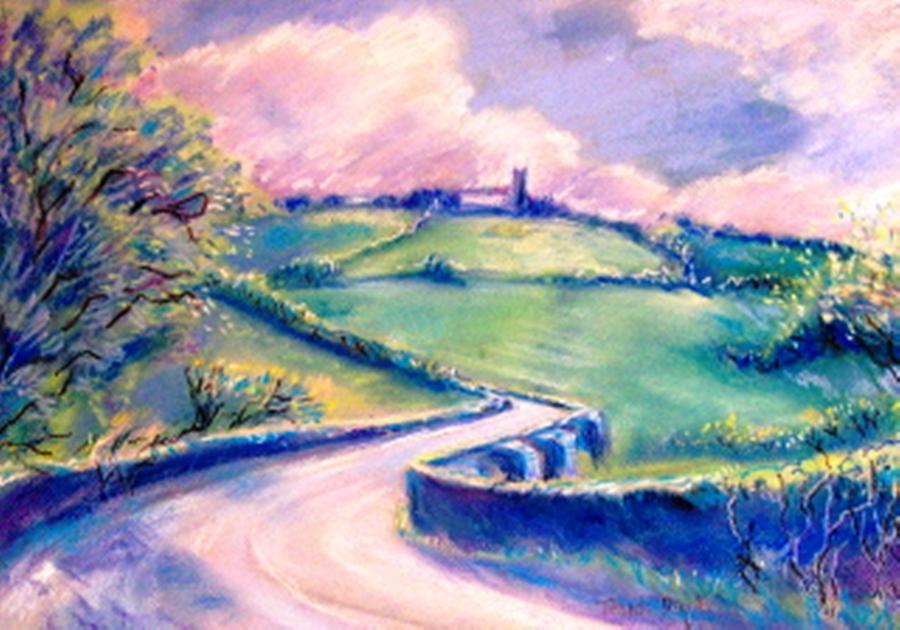 The Bridge Below Hacketstown  Painting  - The Bridge Below Hacketstown  Fine Art Print