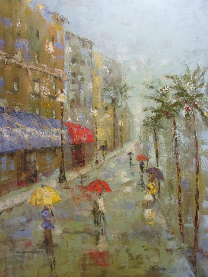Florida Painting - The Broadwalk by Brandi  Hickman