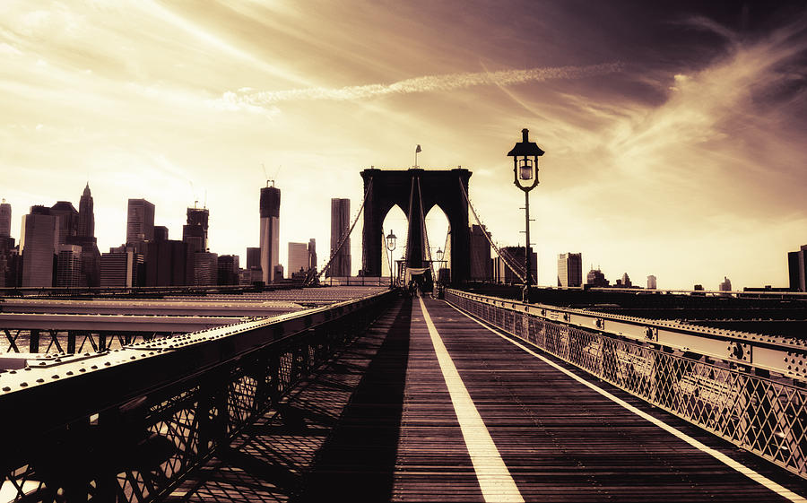 The Brooklyn Bridge - New York City Photograph  - The Brooklyn Bridge - New York City Fine Art Print