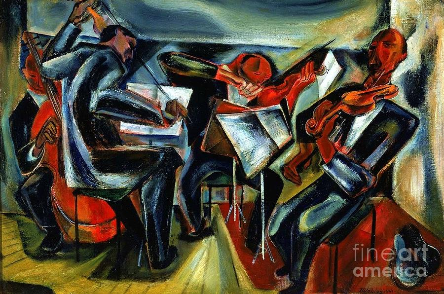 Pd Painting - The Budapest String Quartet by Pg Reproductions