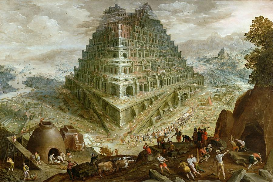 The Building Of The Tower Of Babel Painting