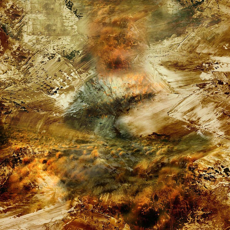The Burning Bush - Abstract Realism Mixed Media