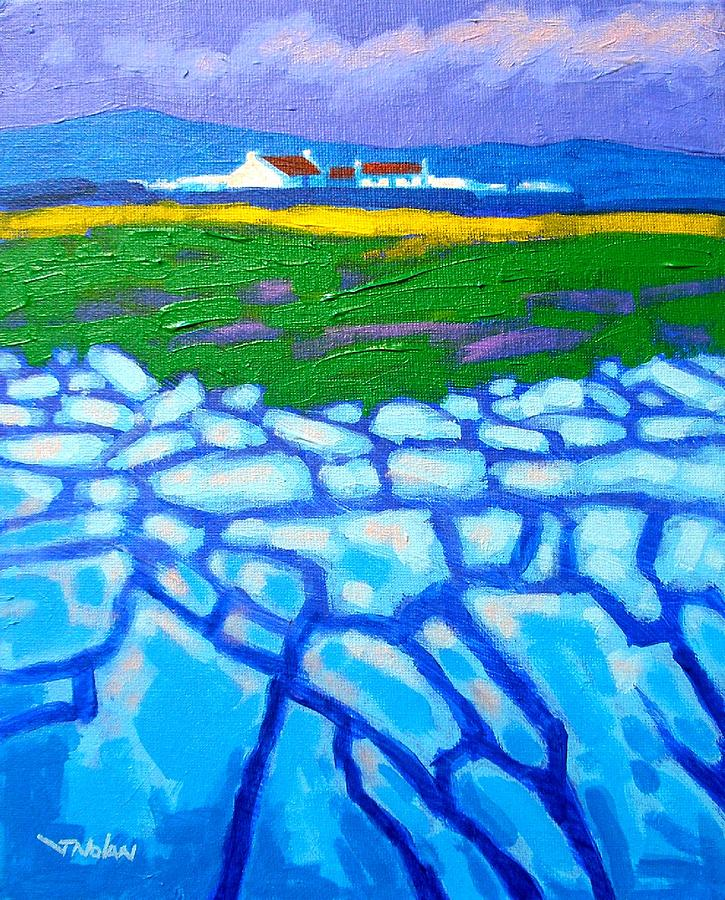 The Burren County Clare Ireland Painting  - The Burren County Clare Ireland Fine Art Print