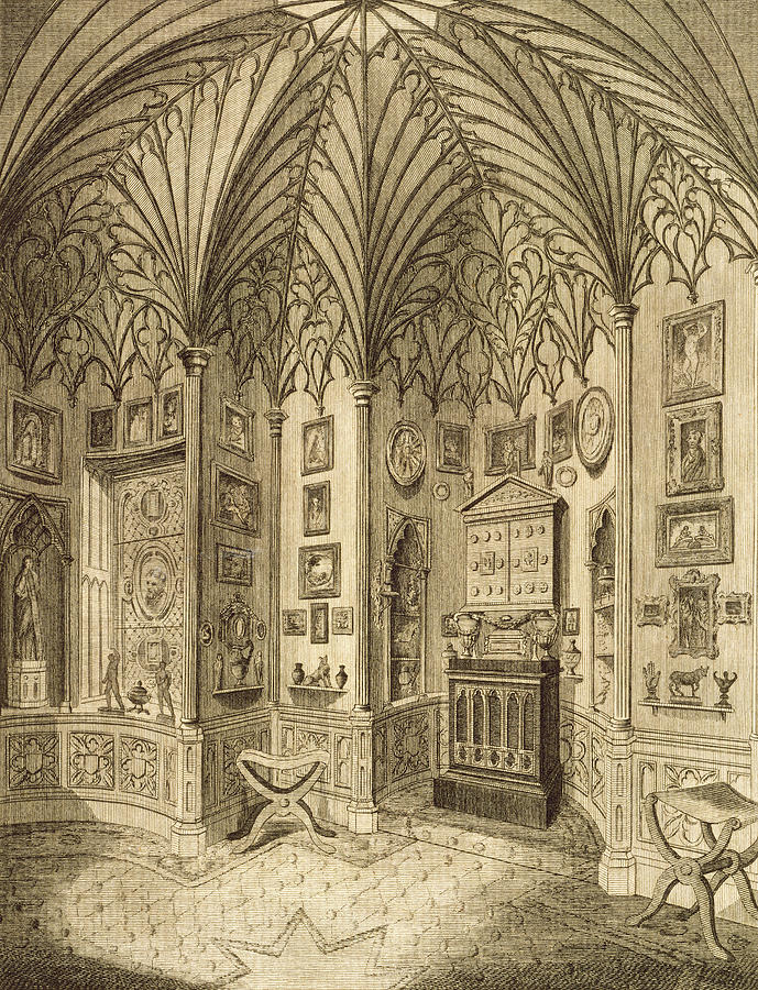 Neo-gothic Drawing - The Cabinet, Engraved By T. Morris by English School